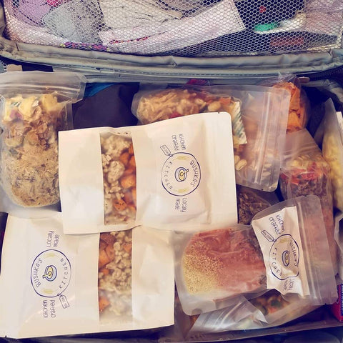 freeze-dried food carry-on luggage airport airline travel