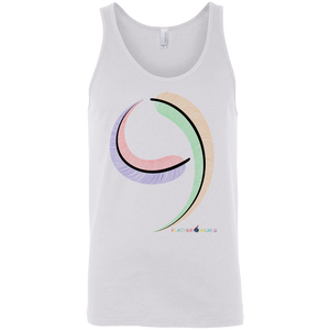 Number 0-9 Sleeveless Canvas Unisex Tank