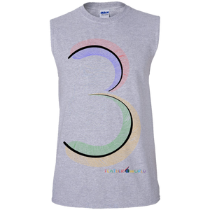 FEATHER Number 3  Sleeveless T-Shirt