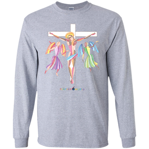 ADULT -  JESUS ON THE WHITE CROSS - Long Sleeve T-shirt