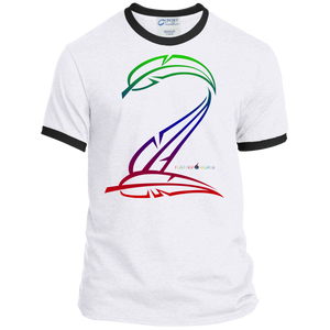 Feather Number Short Sleeve T-shirt 2