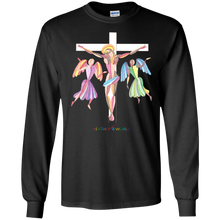 ADULT -  JESUS ON THE WHITE CROSS - Long Sleeve