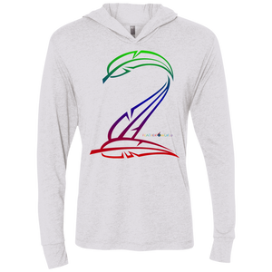 Feather Number Unisex Triblend LS Hooded T-Shirt