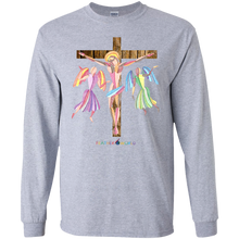 ADULT - JESUS ON THE WOODEN CROOS - Long Sleeve T-shirt