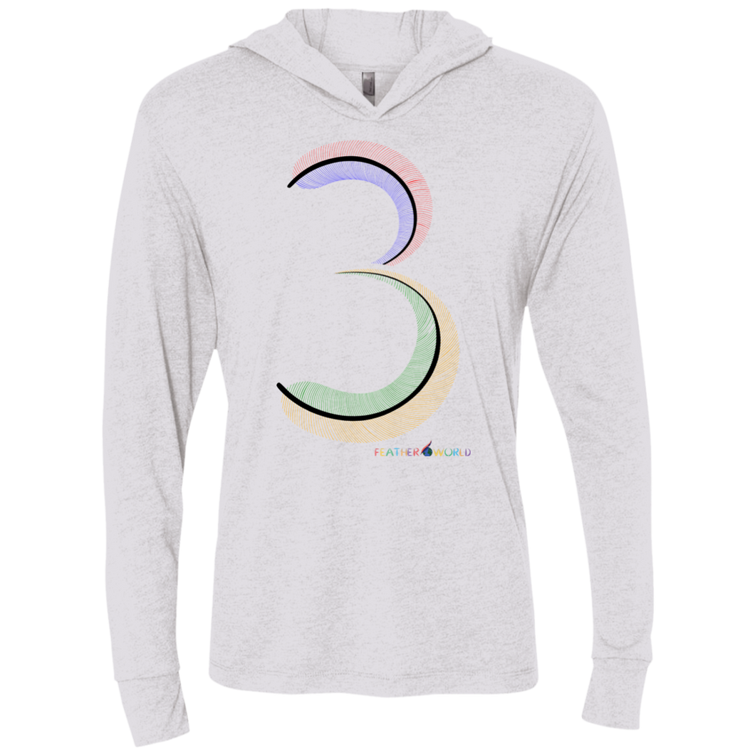 Feather number 3 Hooded Long Sleeve T-Shirt