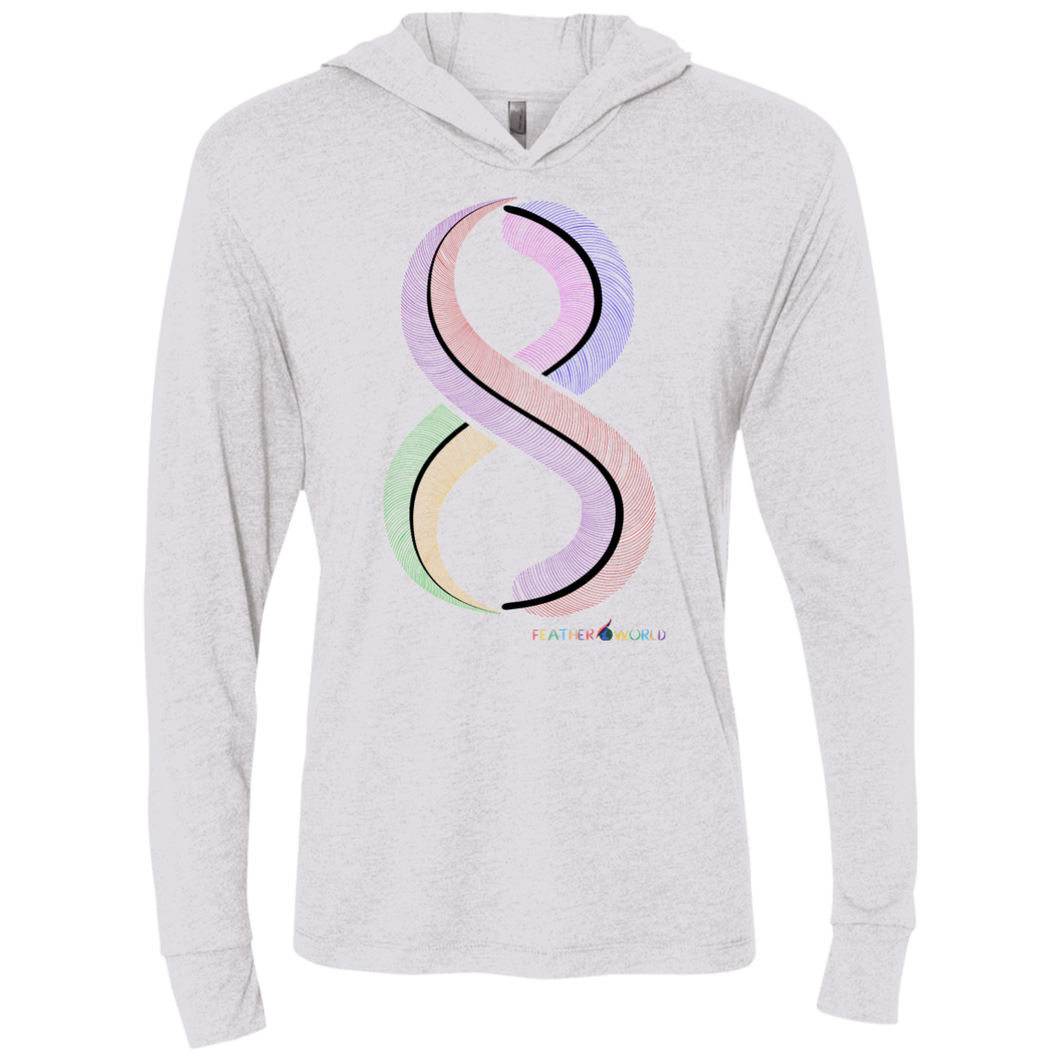 FEATHER NUMBER 8 Hooded T-Shirt