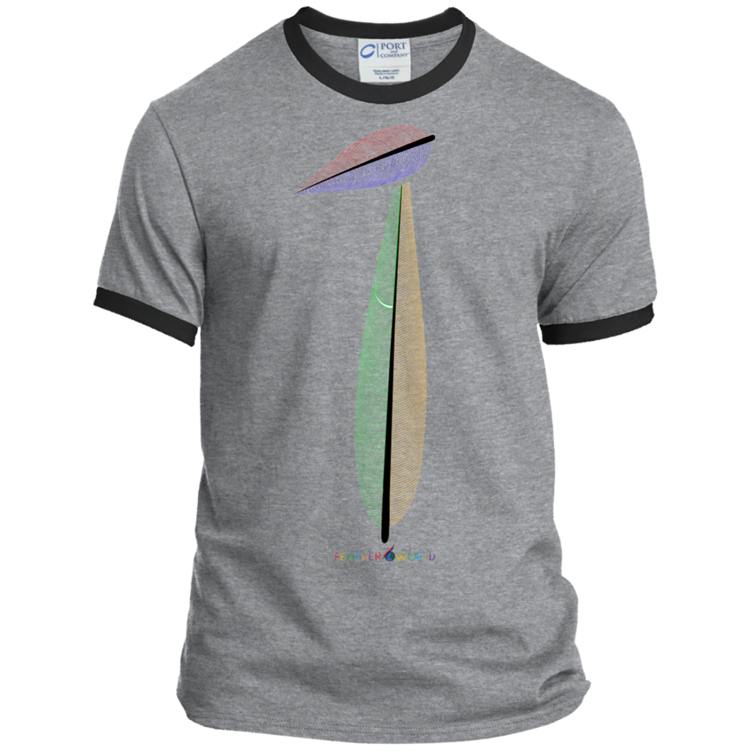 FEATHER NUMBER 1 Ringer Short Sleeve T-shirt T-shirt