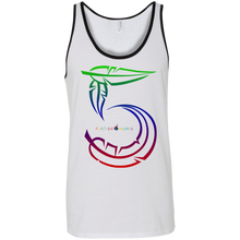 Feather Number Canvas Unisex Tank