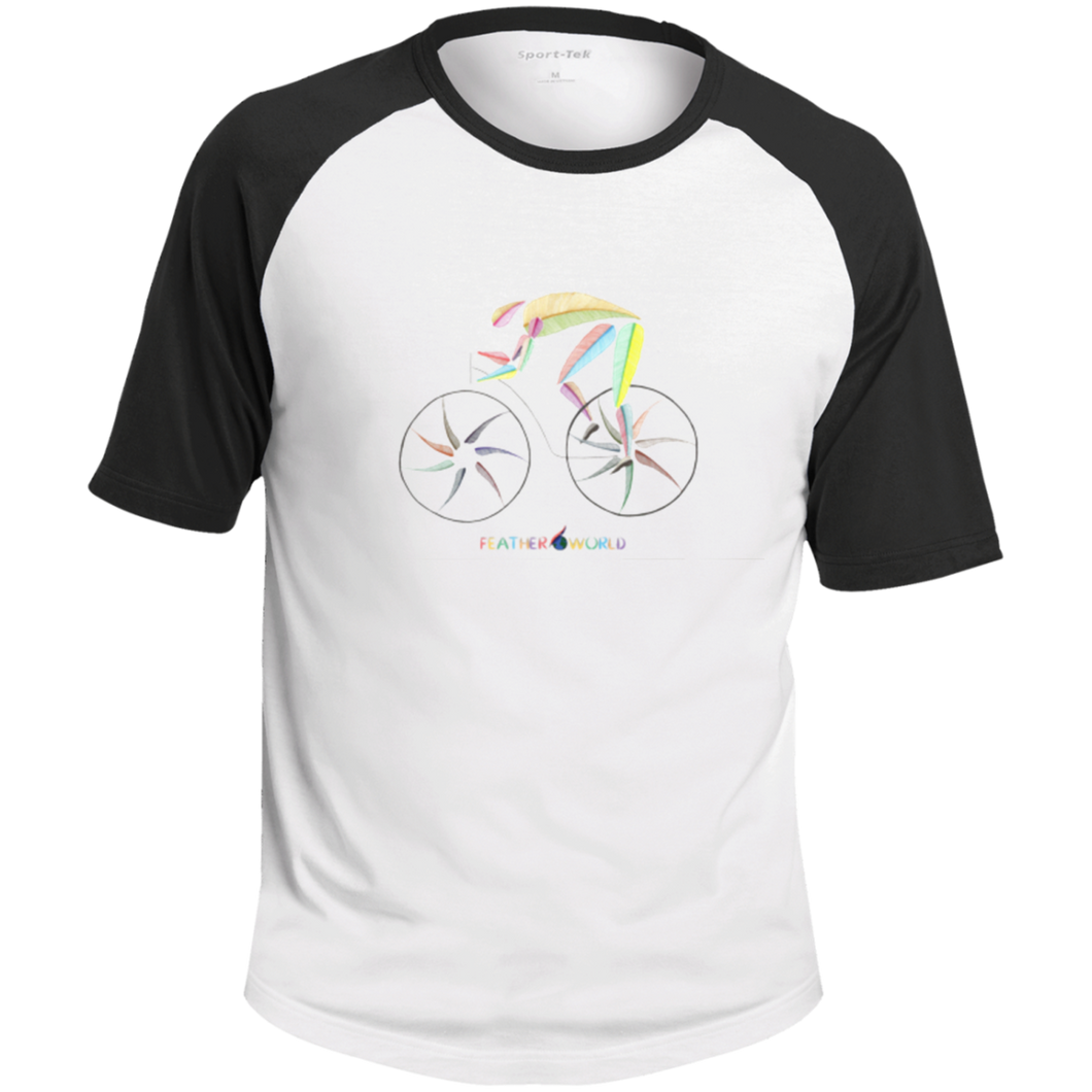 FEATHER Bicycle Sports Colorblock Raglan Jersey shirt