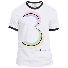 FEATHER NUMBER 3 Ringer Short Sleeve T-shirt