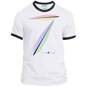 FEATHER NUMBER 7 Ringer Tee