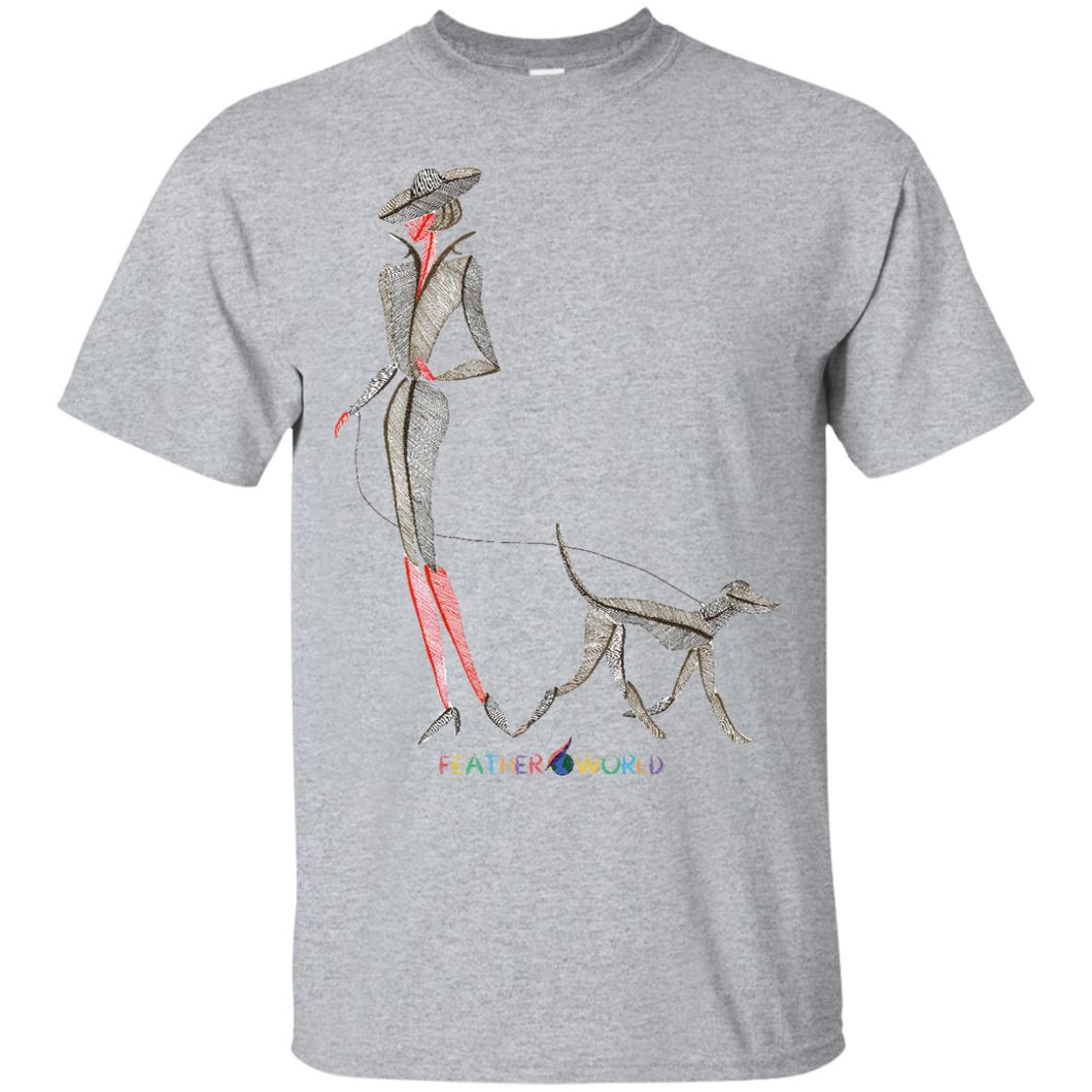 Adult - Walking Dog - Unisex  T-shirt