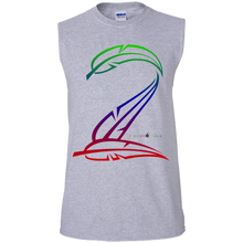 Feather Number Sleeveless T-Shirt