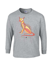 Children - Colorful Cat - Long Sleeve T-Shirt