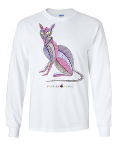 ADULT - Colorful Cat 2 - Long Sleeve Unisex T-shirt