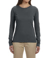 Women's Long Sleeve Tee - Charcoal