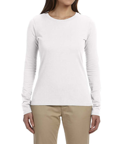 Women's Long Sleeve Tee - White