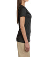 Women's Short Sleeve V-Neck Tee - Black