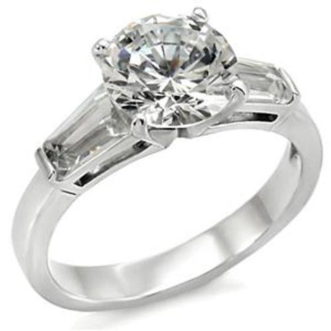 1.8ct CZ Women's Popular Stainless Steel Wedding Ring - LA NY Jewelry