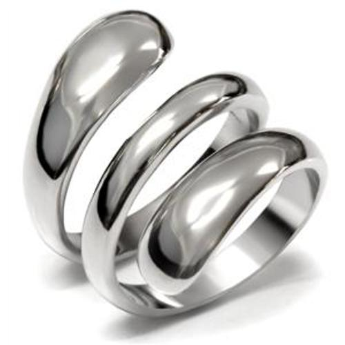 Designer Style 316 Stainless Steel Plain Women's Fashion Thumb Ring - LA NY Jewelry