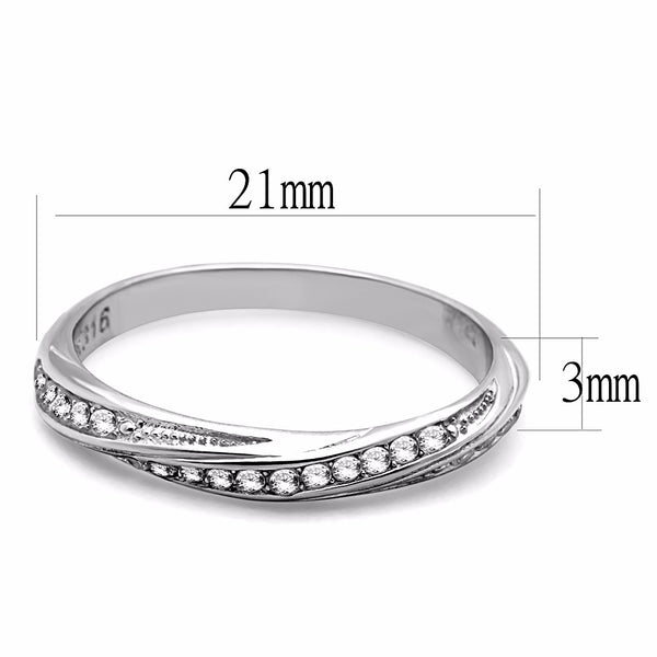 Top Grade Clear Crystal set in Non Tarnish Stainless Steel Small Light Band - LA NY Jewelry