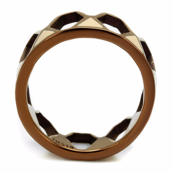 Designer Style Crown Look Coffee Light IP 316 Stainless Steel Band - LA NY Jewelry
