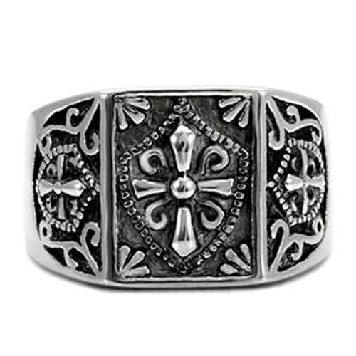 316 Stainless Steel Mens Mason Templar Knights Ring - LA NY Jewelry