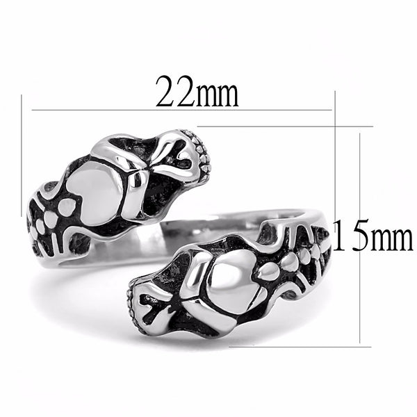 Double Snake Head Shape 316 Stainless Steel Mens Ring - LA NY Jewelry
