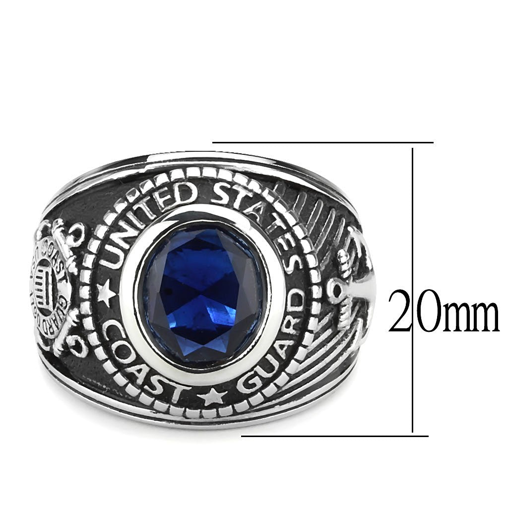 Polished Stainless Steel YVO Coast Guard Ring