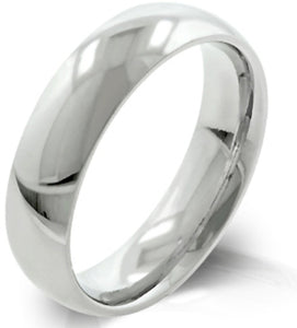 5mm Wide 316 Stainless Steel Plain Wedding Ring Band - LA NY Jewelry