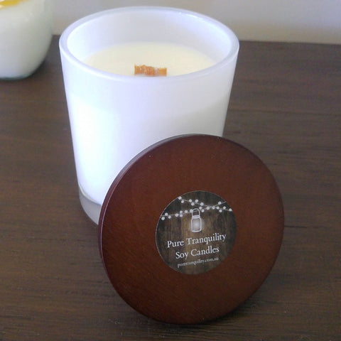 White Tumbler 500ml - Woodwick Soy Candles by Pure Tranquility Candles - Pure Tranquility Candles