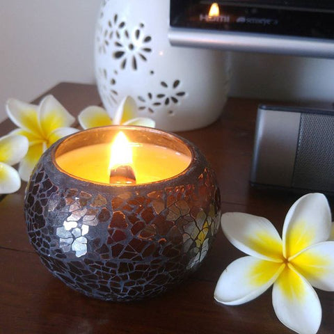 Black Mosaic - Woodwick Soy Candles by Pure Tranquility Candles - Pure Tranquility Candles