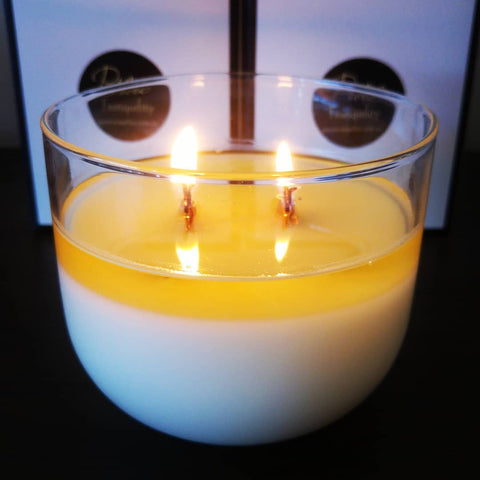 Clear Glass Canister 400ml - Woodwick Soy Candles by Pure Tranquility Candles - Pure Tranquility Candles