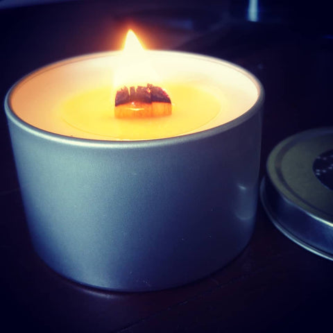 Travel Tin - Lychee Guava Sorbet - Woodwick Soy Candles by Pure Tranquility Candles - Pure Tranquility Candles