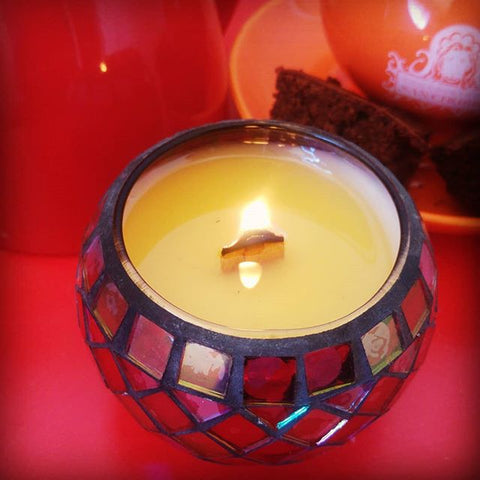 Red Diamond Mosaic 280ml - Woodwick Soy Candles by Pure Tranquility Candles - Pure Tranquility Candles
