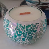 Aqua Mosaic - Woodwick Soy Candles by Pure Tranquility Candles - Pure Tranquility Candles
