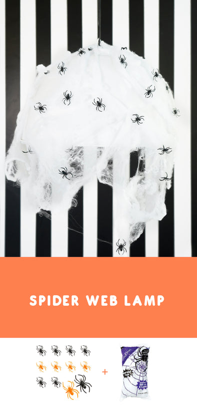 Super Easy Halloween Spider Web Lamp