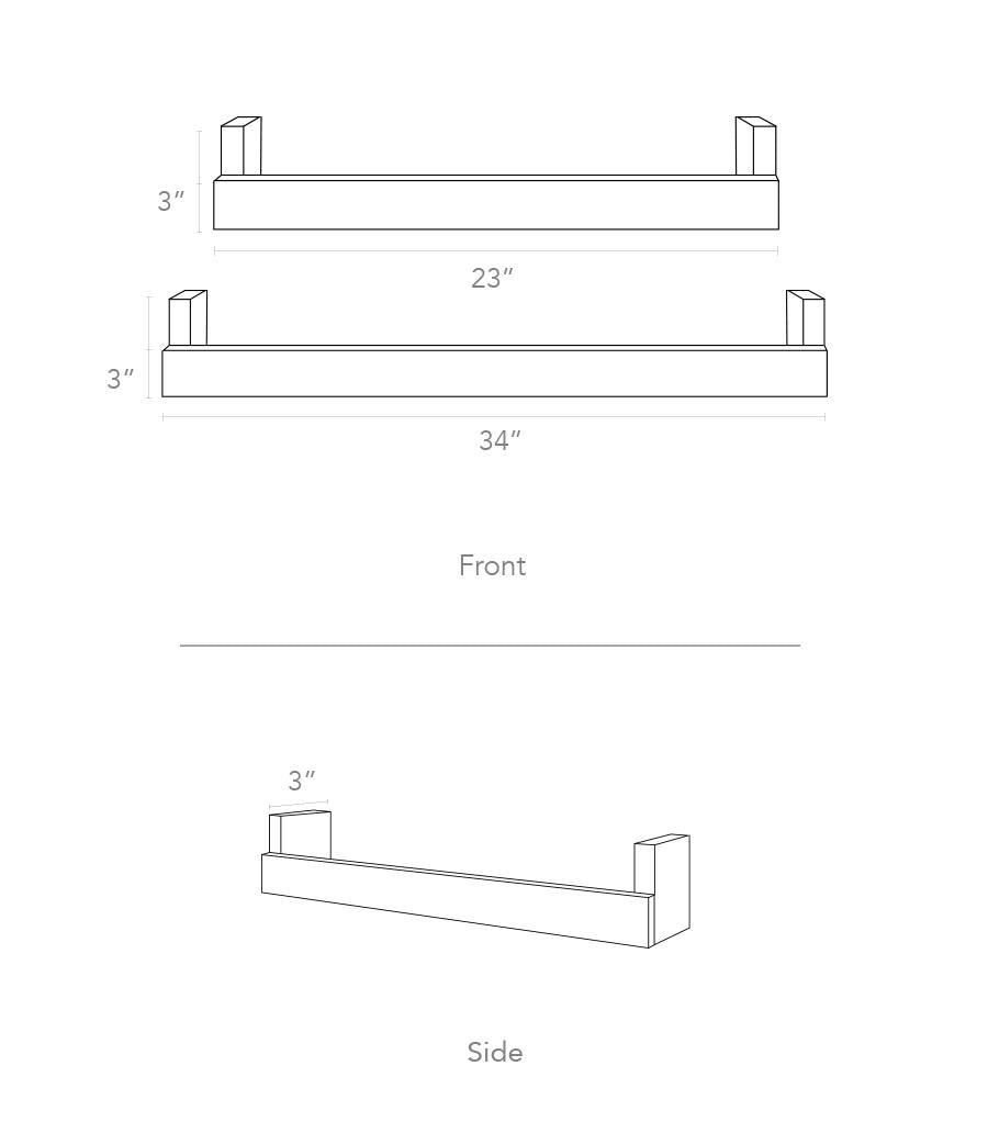 minimo floating shelf dimensions