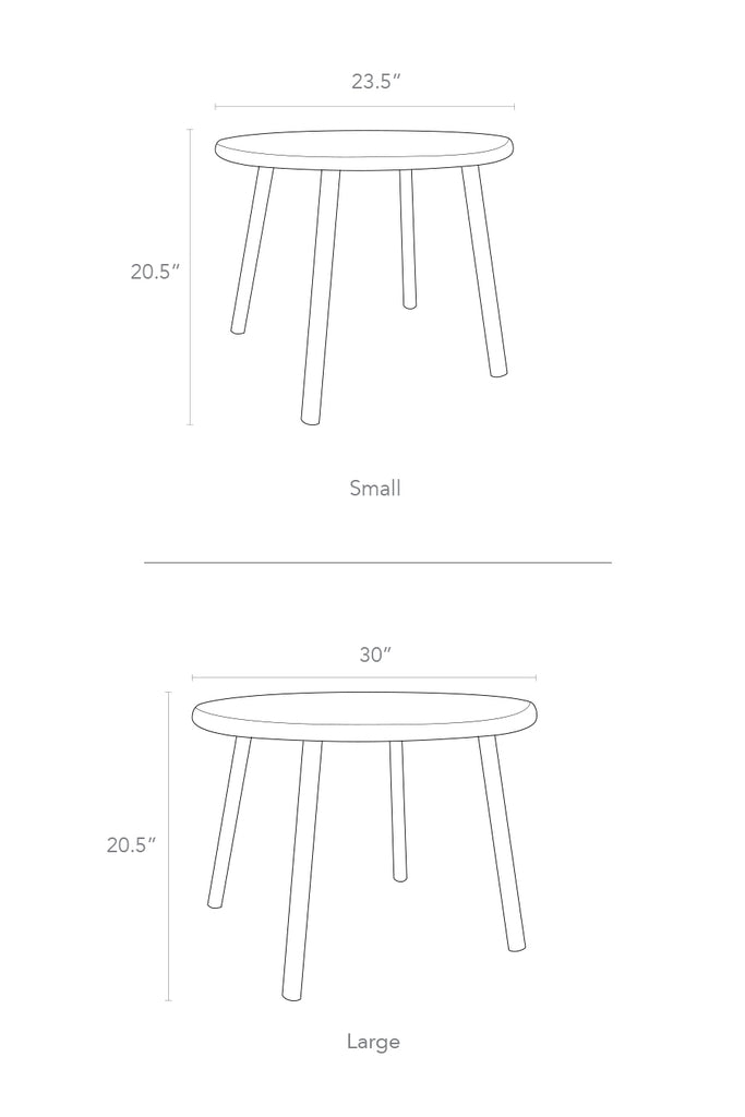 Nico and Yeye Kids table and chairs dimensions