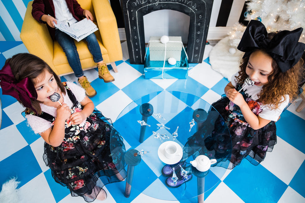 Nico and Yeye | @babyellestyle | Modern kids furniture | Acrylic table | Los Angeles CA