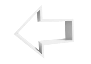 Nico & Yeye kids wall decor white arrow shelf