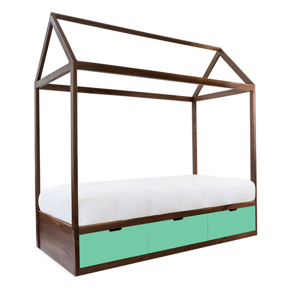 Modern Kids Furniture Domo Zen Bed with Drawers - nicoandyeye.com