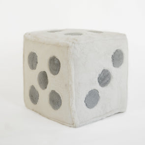 Modern Kids Furniture Fuzzy Dice Fur Pouf - nicoandyeye.com