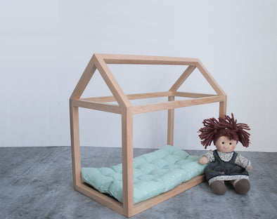 Nico & Yeye mini doll house bed frame_Kids playroom_Wooden toys