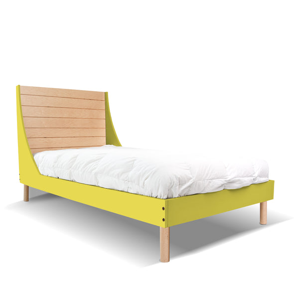 Minimo Twin Bed - Minimo Twin Bed - Maple Green | Modern Bedroom Furniture for Kids | Los Angeles