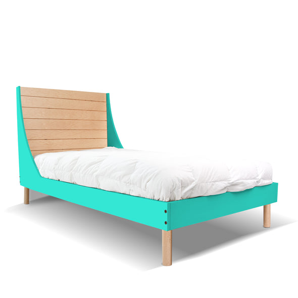 Minimo Twin Bed - Minimo Twin Bed - Maple Mint| Modern Bedroom Furniture for Kids | Los Angeles