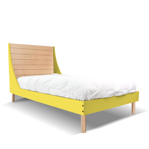 Minimo Twin Bed - Minimo Twin Bed - Maple Yellow | Modern Bedroom Furniture for Kids | Los Angeles