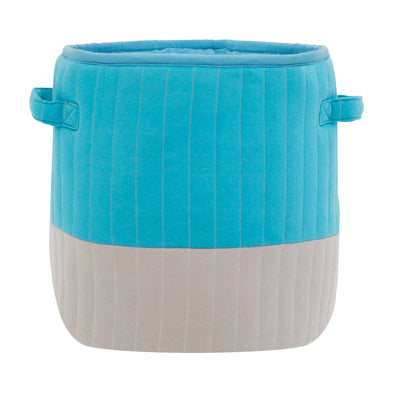 "Mod Quilted Storage Basket Blue/Gray | 13"" x 12"""