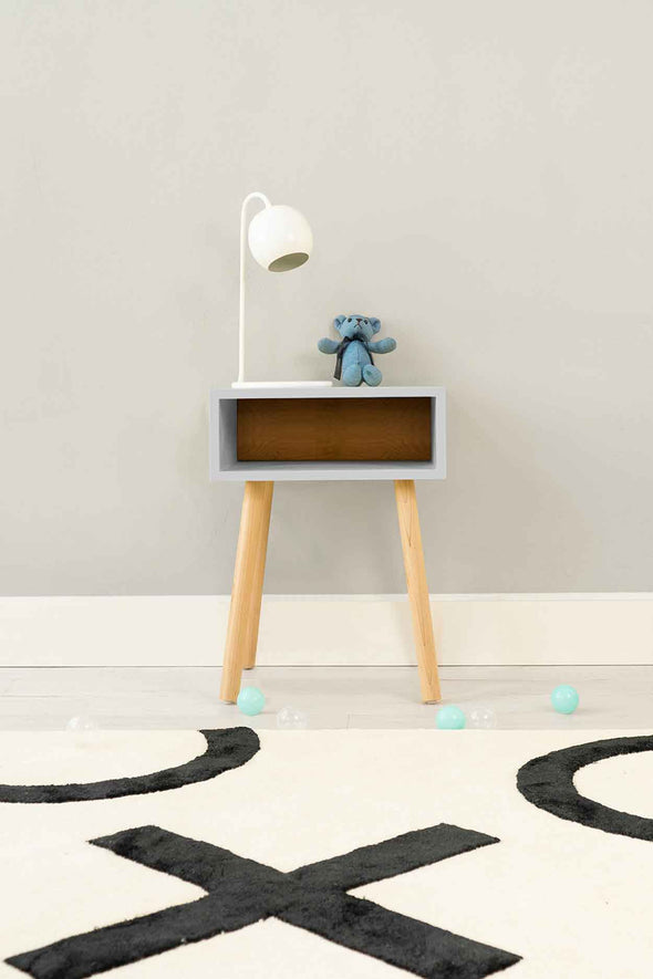 Modern Kids Furniture Minimo Modern Kids Nightstand - nicoandyeye.com
