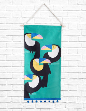 Modern Kids Furniture Toucans Tapestry - nicoandyeye.com